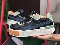 Женские демисезонные кроссовки Puma Cali Sport Mix (черные) 9890