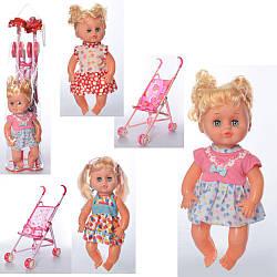 Детская игровая прогулочная коляска 8816-236 с куклой звуковые эффекты