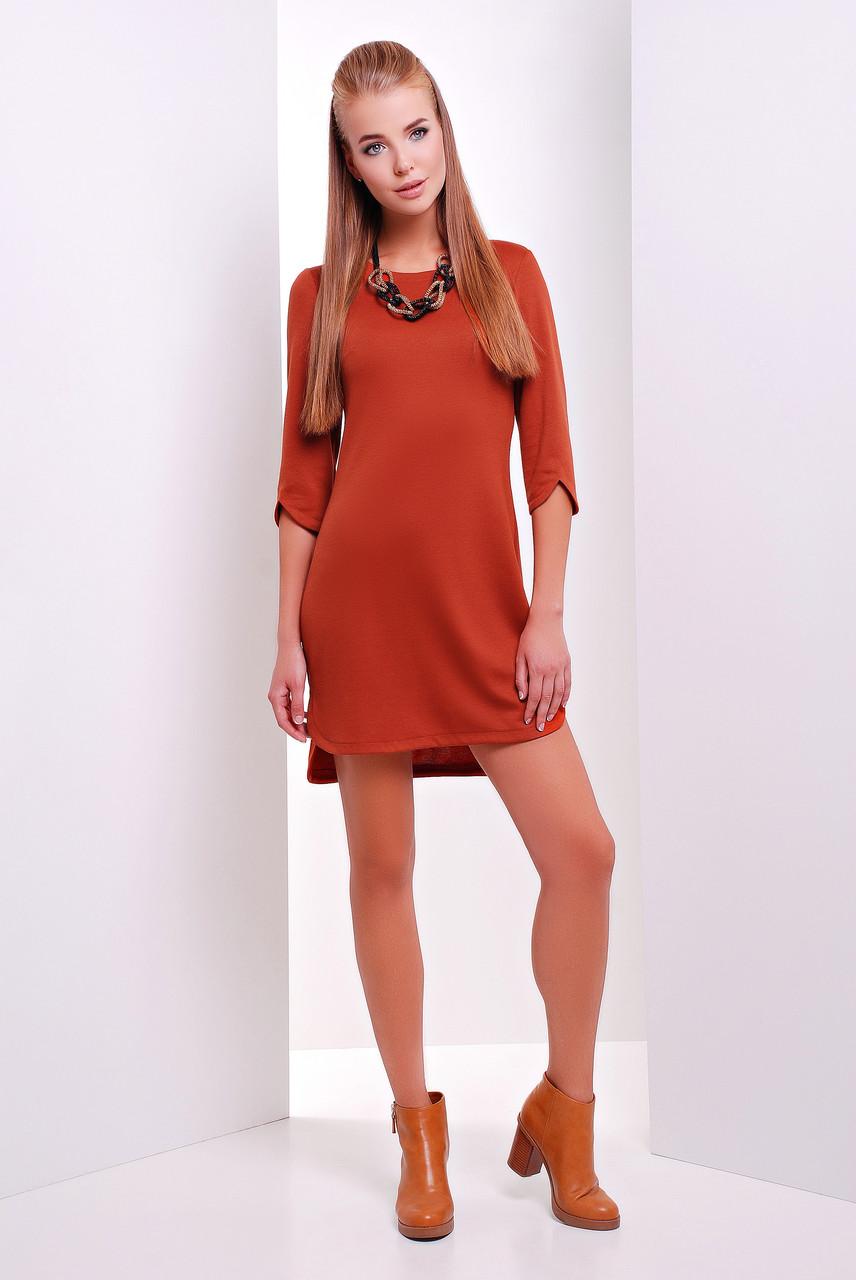 Модное женское платье Селеста терракот (44-50)