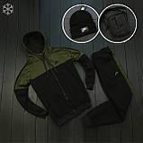 Мужской зимний спортивный костюм Nike black/khaki (Реплика ААА), фото 4