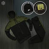 Мужской зимний спортивный костюм Nike black/khaki (Реплика ААА), фото 3