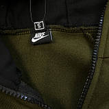 Мужской зимний спортивный костюм Nike black/khaki (Реплика ААА), фото 8