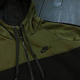 Мужской зимний спортивный костюм Nike black/khaki (Реплика ААА), фото 6