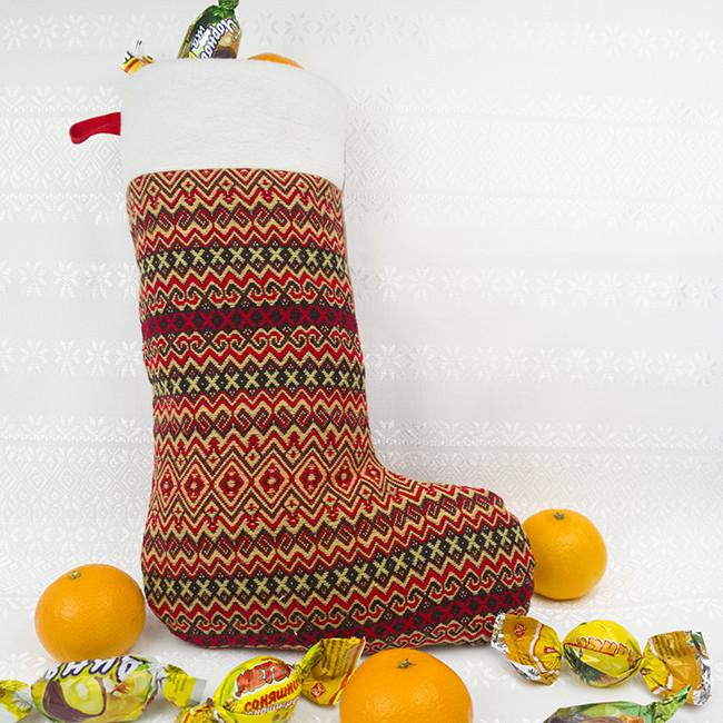 Новогодний носок на камин