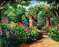 Картина рисование по номерам Чарівний діамант Райский сад РКДИ-0179 40х50см набор для росписи, краски, кисти,, фото 1