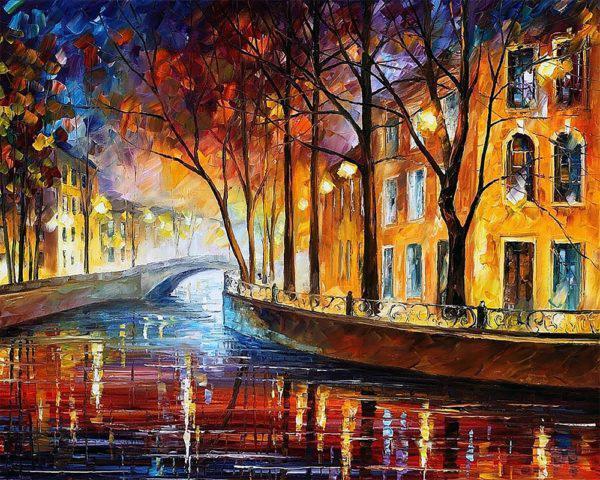 Картина рисование по номерам Чарівний діамант Краски осеннего города РКДИ-0127 40х50см набор для росписи,