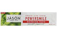 Зубная паста без фтора отбеливающая  Jason Power Smile, мощная перечная мята,  мл