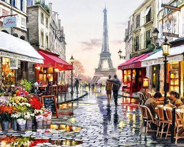 Картина рисование по номерам Чарівний діамант Париж – город любви РКДИ-0112 40х50см набор для росписи, краски,