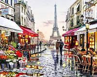 Картина рисование по номерам Чарівний діамант Париж – город любви РКДИ-0112 40х50см набор для росписи, краски,, фото 1