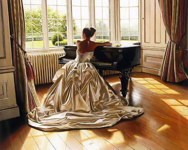 Картина рисование по номерам Чарівний діамант Чарующая мелодия РКДИ-0083 40х50см набор для росписи, краски,