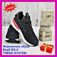 Кроссовки черные женские BaaS BS-X TREND SYSTEM Бас спорт замш экокожа весна осень 2020 р. 36-41