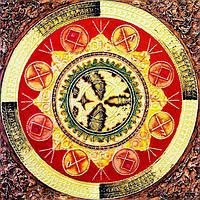 Картина рисование по номерам Чарівний діамант Мандала – Исполнения  желаний РКДИ-0131 40х40см набор для, фото 1