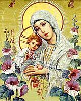 Картина рисование по номерам Чарівний діамант Ікона Богородица с Иисусом РКДИ-0015 40х50см набор для росписи,, фото 1