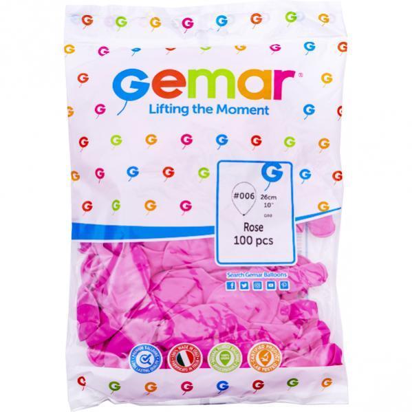 Шарики 10 пастель «Розовый» G90 /06 9061