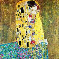 Картина рисование по номерам Чарівний діамант Поцелуй РКДИ-0144 40х40см набор для росписи, краски, кисти,, фото 1