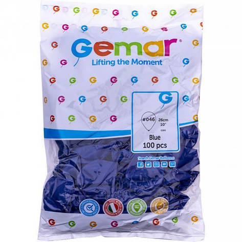 Шарики 10 пастель «Синие» G90 /46    9461, фото 2