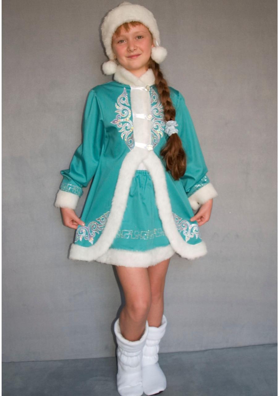 Карнавальный костюм Снегурочка №2/1 (бирюза)