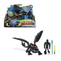 Игровой набор Как приручить дракона Dreamworks Dragons Дракон Беззубик и виккинг Иккинг