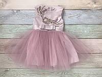 Сукня для дівчинки святкова. 1-2 роки, колір - рожева пудра