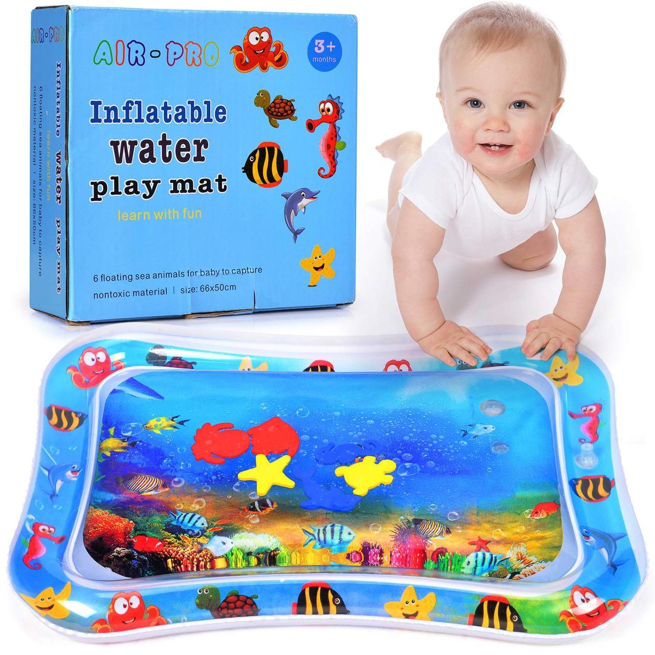 Детский развивающий коврик - водный с рыбками