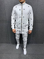 Мужской осенний спортивный костюм (белый) 5226