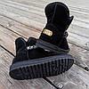 Натуральна замша уггі дитячі UGG чорні черевики чобітки уггі дитячі для дівчинки, фото 5