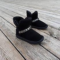 Натуральна замша уггі дитячі UGG чорні черевики чобітки уггі дитячі для дівчинки, фото 2