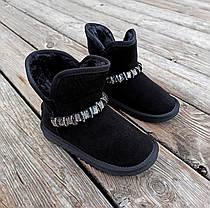 Натуральна замша уггі дитячі UGG чорні черевики чобітки уггі дитячі для дівчинки, фото 3