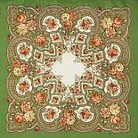 Янтарный вечер 1222-9, павлопосадский платок шерстяной с шерстяной бахромой, фото 2