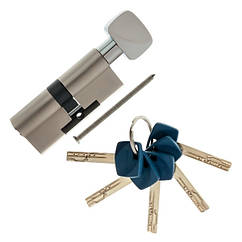 Цилиндровый механизм Apecs Premier XR-90(45х45)-C15-Ni никель ключ/поворотник