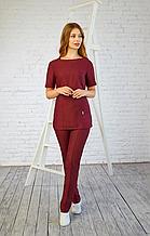 Женская медицинская батистовая куртка с удобными карманами 42-56