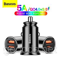 Быстрая автомобильная зарядка Baseus 5A 30 Вт USB, USB-C