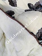 Меховое двухстороннее одеяло Евро размер.