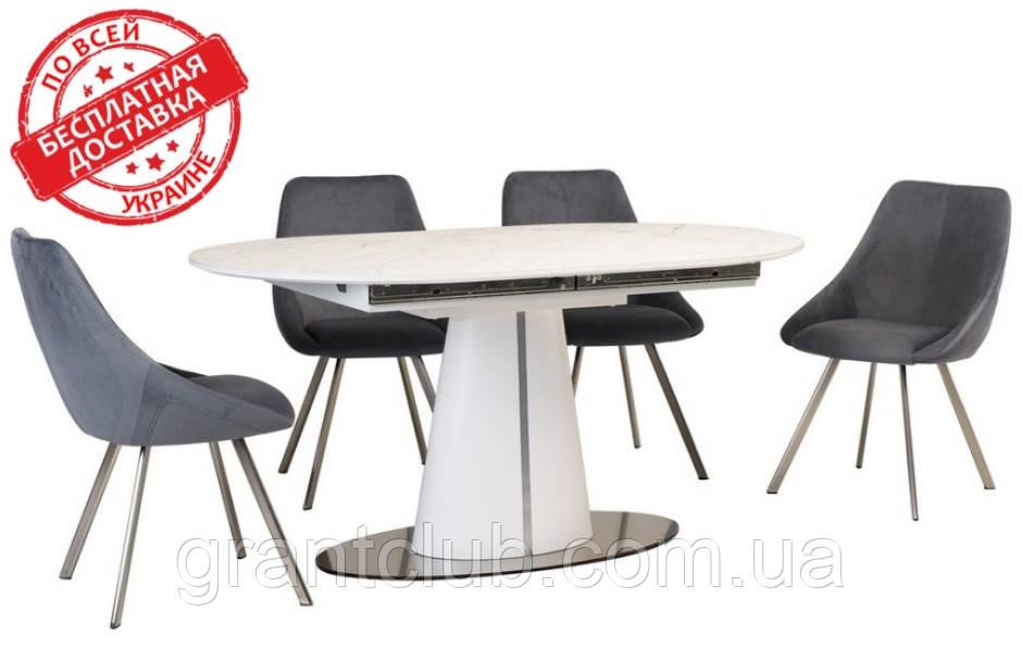 Стол TML-800 белый мрамор 150/200х90 (бесплатная доставка)