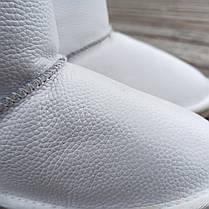Натуральна шкіра Уггі UGG шкіряні дитячі БІЛІ чобітки уггі черевики уггі дитячі шкіряні, фото 3
