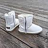 Натуральна шкіра Уггі UGG шкіряні дитячі БІЛІ чобітки уггі черевики уггі дитячі шкіряні, фото 5