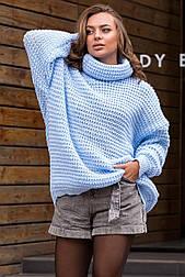 Теплый вязаный свитер оверсайз «Фристайл», 46-58
