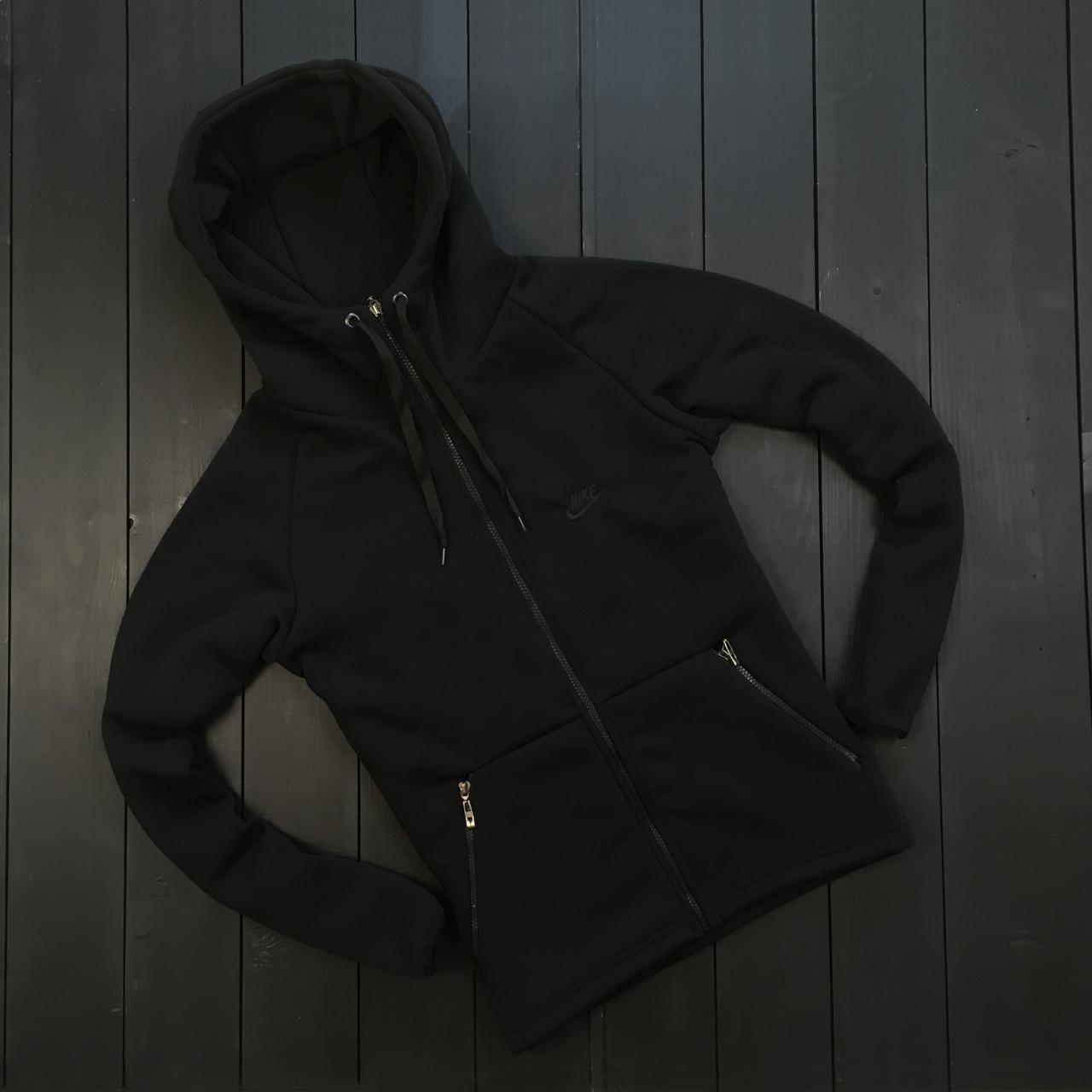 Мужское зимнее худи Nike black (Реплика ААА)