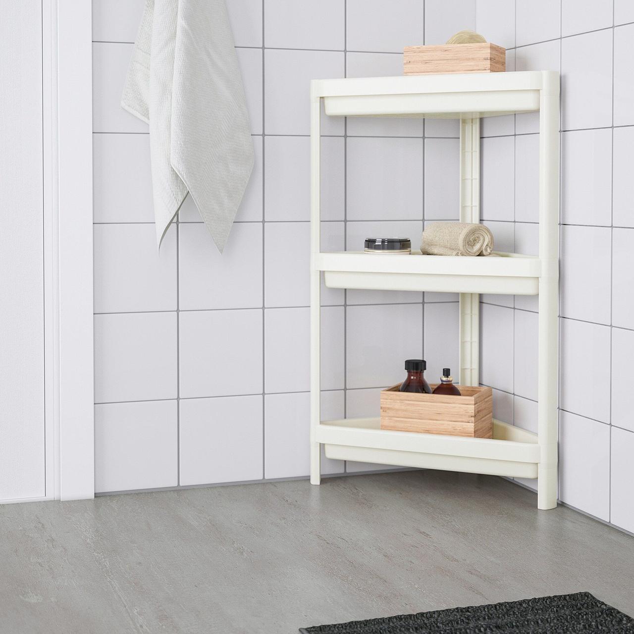 Кутовий стелаж IKEA VESKEN ВЕСКЕН білий 704.710.92