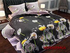 """Семейный набор хлопкового постельного белья из Бязи """"Gold"""" с простынью на резинке №143065AB Черешенка™"""
