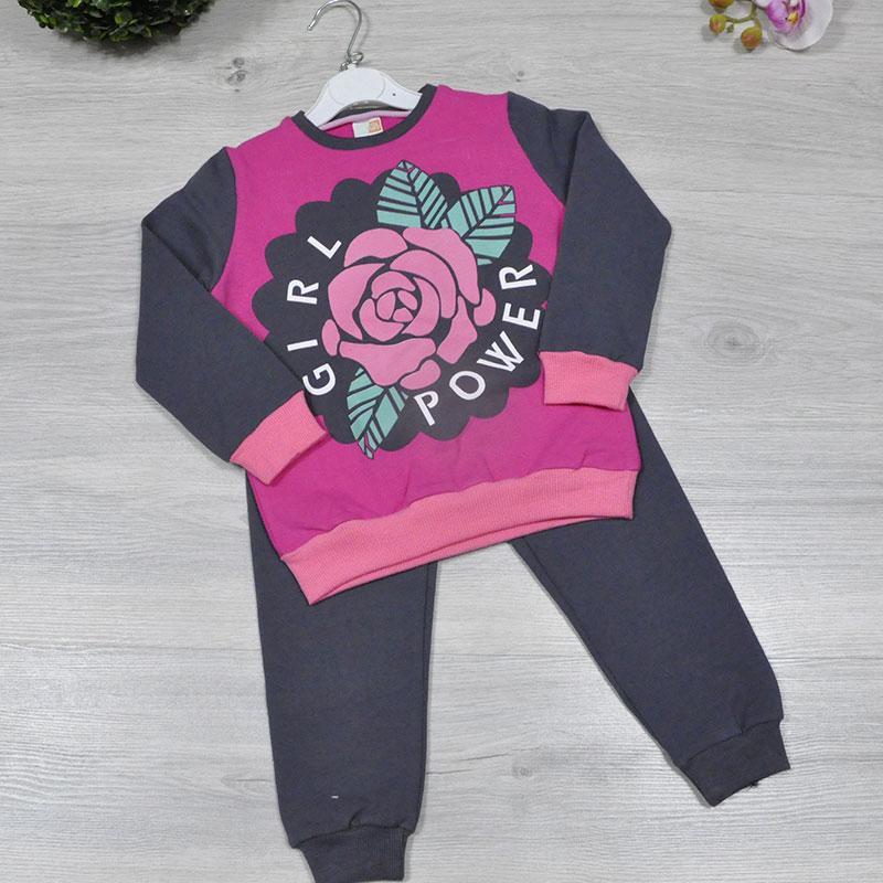"""Детский костюм""""РОЗА"""", на байке,  для девочек 3-6 лет (4 ед в уп), Малиновый"""