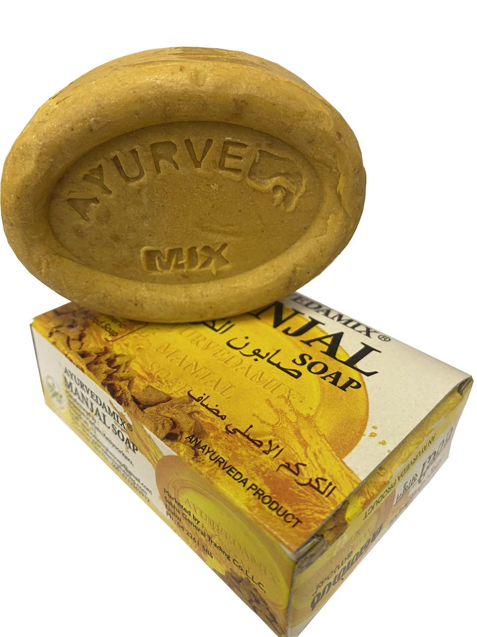 Индийское  мыло с куркумой  Manjal      75 грамм