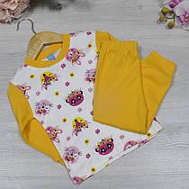 Пижама (90% cotton, 10% micropoly), размер 1-3 года (3 ед в уп), Желтый