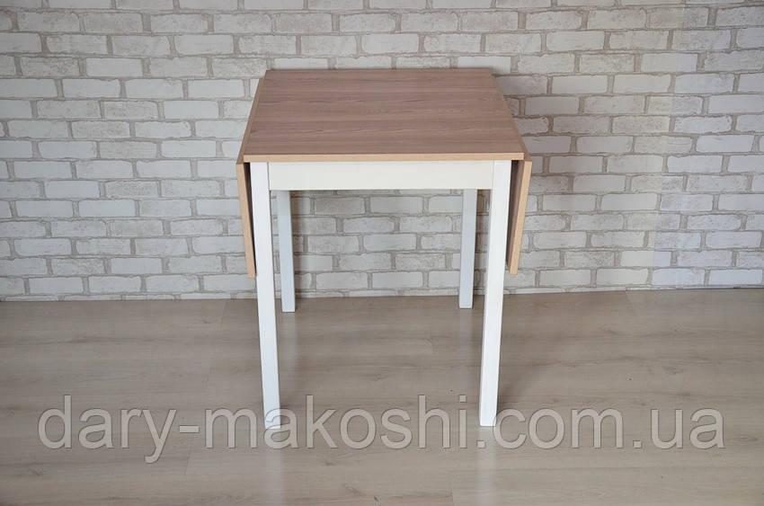 Раскладной стол с откидными полами Тавол Фолди ножки прямые деревянные Ясень