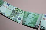"""Денежная гирлянда """"Успех"""" сувенирная шуточная - евро (1,60 м), фото 4"""