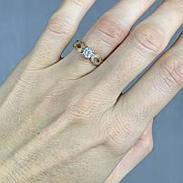 Золотое кольцо с фианитами 585 пробы, вес 2,49г. Б/у. Продажа из ломбарда, фото 2