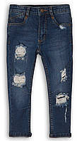 Подростковые детские джинсы для мальчика рванка 12-13 лет, 152-158 см