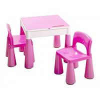 Детский столик и два стульчика Tega Mamut Pink розовый