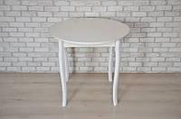 Круглый стол Тавол Крег D600 ножки фигурные деревянные Белый, фото 1