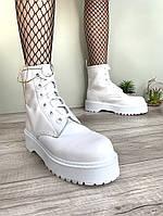 """Ботинки женские осенние кожаные Dr. Martens MOLLY """"Белые"""" размер 36-40, фото 1"""